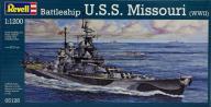Model do sklejania Revell Battleship U.S.S. Missou