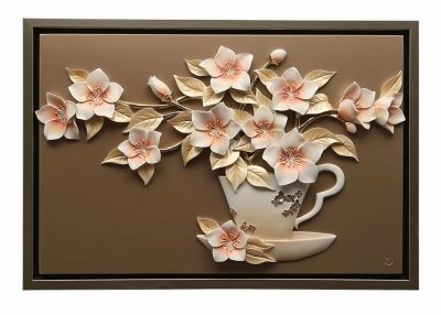 Obraz 3d Przestrzenny Ręcznie Malowany Kwiaty 6103054107