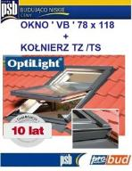OKNA OKNO DACHOWE OPTILIGHT 78x118 VB +KOŁN NAWIEW