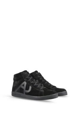 a809d48a9f51f ARMANI JEANS wysokie sneakersy trampki SKÓRA 2017 - 6788916589 ...