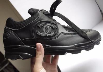 e921fcfae07b8 Buty Chanel adidasy numer seryjny czarne 37 logo - 6825243416 ...