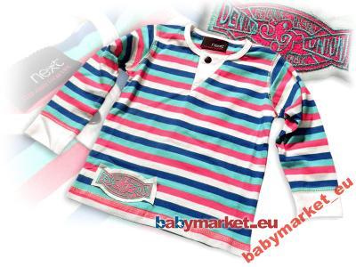 NEXT bluzka bluzeczka dziewczęca w paseczki  *122