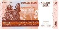 Madagaskar 500 Francs 2004 P-88b UNC