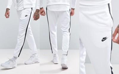 spodnie dresowe nike ze ściągaczem męskie białe