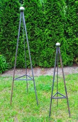 Obelisk ogrodowy, podpora na pnącza, pergola