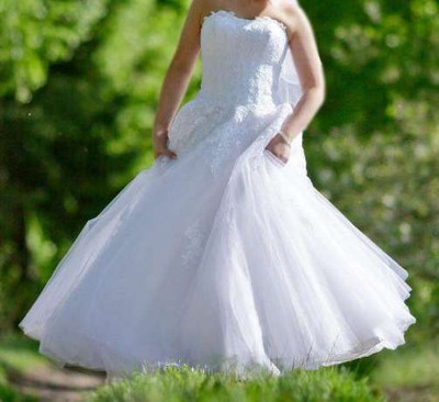 Suknia ślubna Evfashion Modelfantazja R38 40 6628412216
