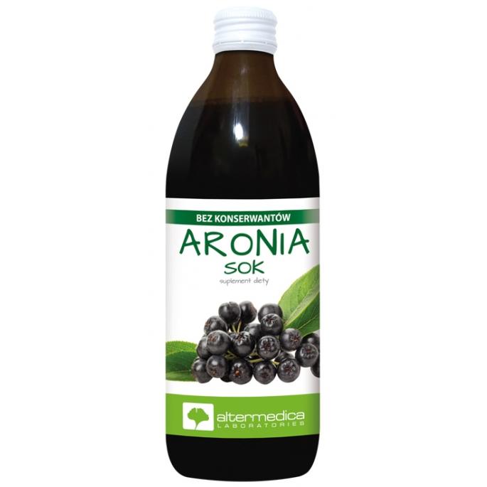 100% sok z Aroni Aronii Bomba Witamin 3L Nasza Tłocznia