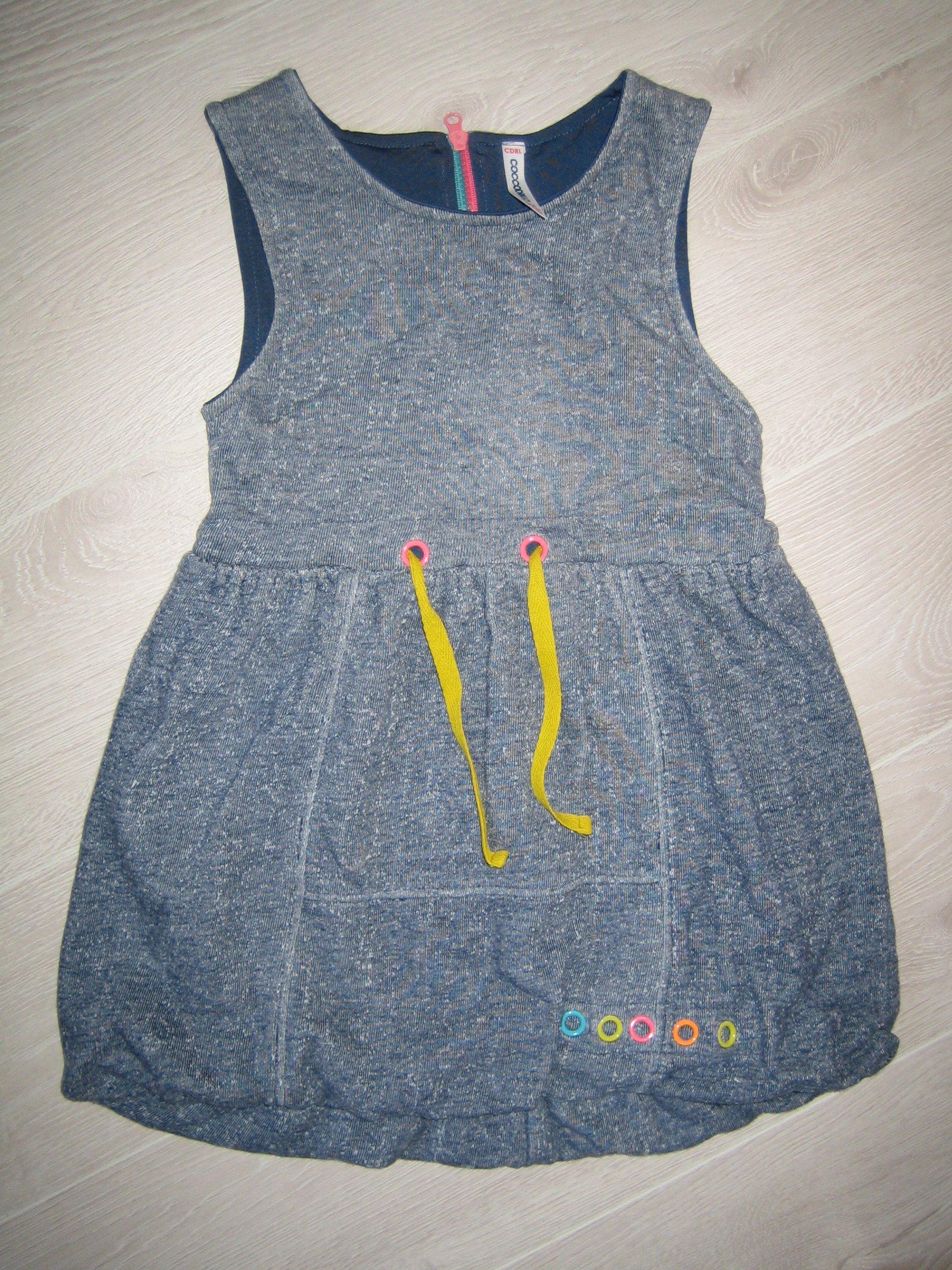 Zestaw Coccodrillo 104:sukienka bombka+longsleeve