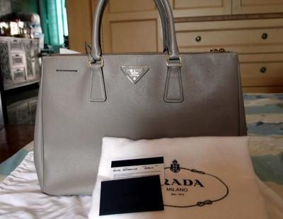 0e0aae38355a7 Torebka Prada Saffiano double zip bag Szara BOSKA! - 6656949885 ...
