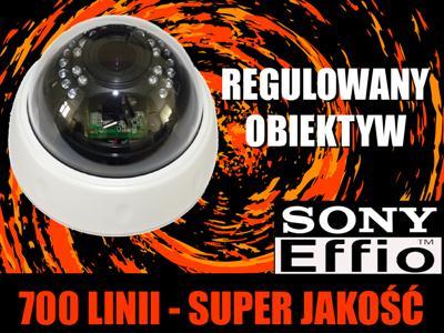 Kamera CCTV 700 TVL Sony Effio dzien NOC IR_audio