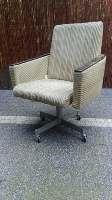 Stary Fotel Prl Loft Biurowy Obrotowy Modern
