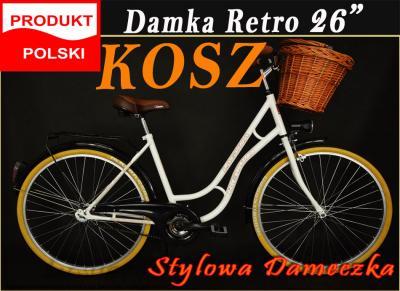ROWER 26 Polska LAGUNA KANDS RETRO __LUX + KOSZ