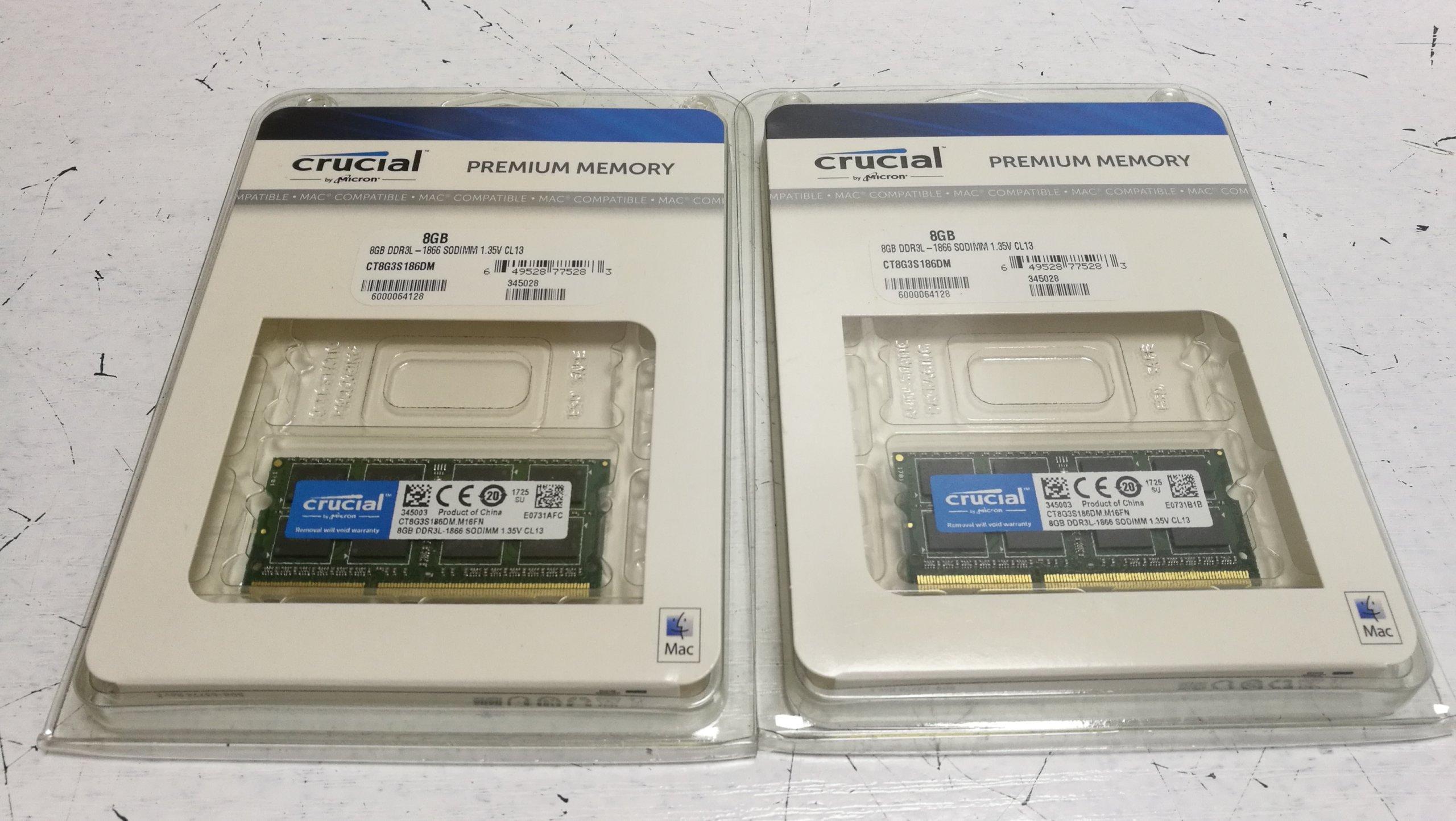 M1.7 PAMIĘĆ RAM CRUCIAL 8GB DDR3L 1866Mhz CL13