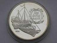 Węgry 1993r. 500 forintów - statek ARPAD (Ag)