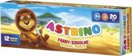 Farby szkolne Astrino 12 kolorów 20 ml ASTRA