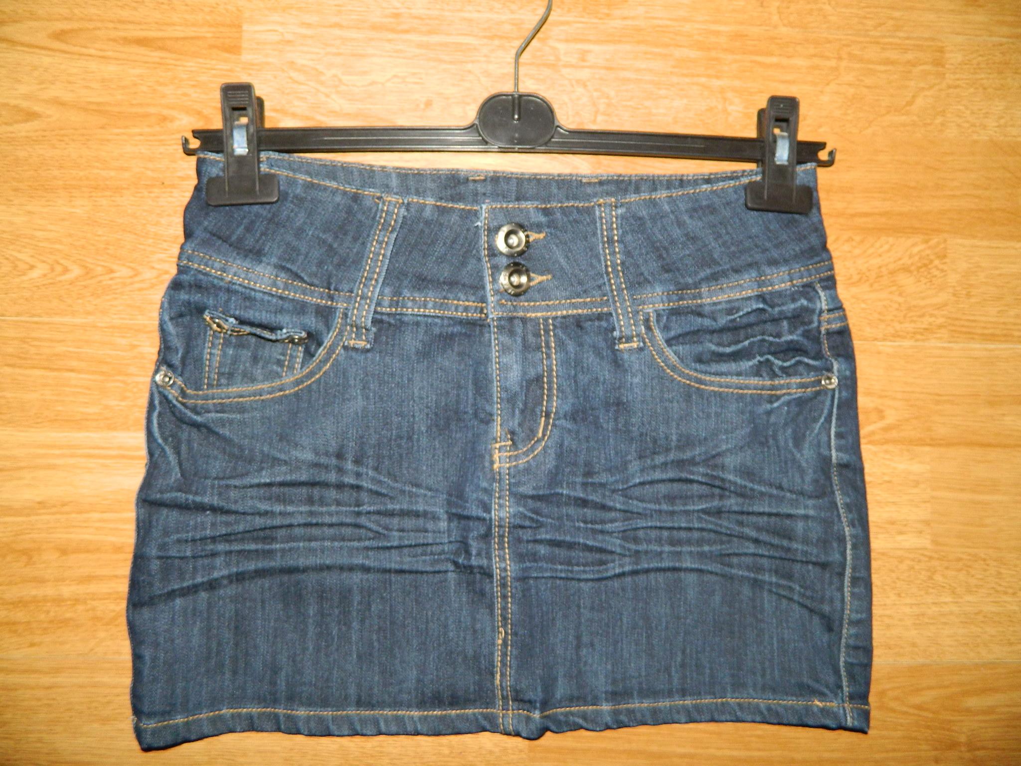 c759dc07 NATURALT jeansowa spódnica mini roz 36