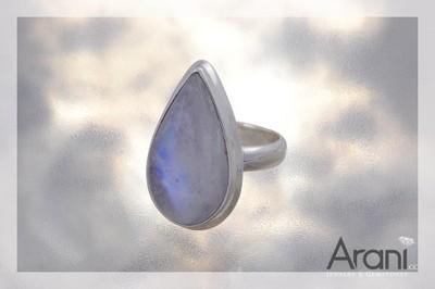 P115 pierścionek, kamień księżycowy SREBRO 925