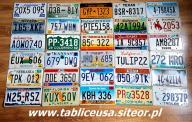 Duży zestaw 30 tablic z USA