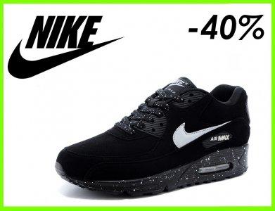 sneakers for cheap a8307 4b590 BUTY NIKE AIR MAX 90 CZARNE OREO r.36-46 TANIO - 6049965569 ...