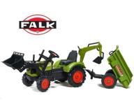 FALK Traktor CLAAS Arion z przyczepą i łyżką