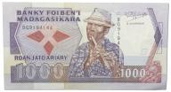 3.Madagaskar, 1 000 Franków 1988-1993, St.2/3+