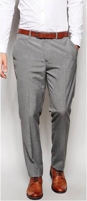 g82 spodnie exASOS slim garniturowe W34 L32