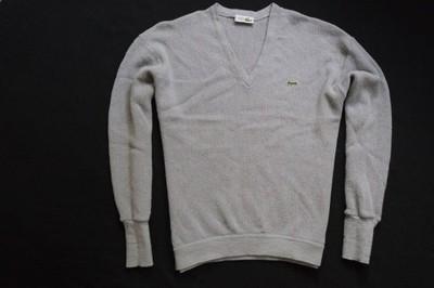 LACOSTE sweter sweterek szary logowany modny____XL