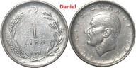 1 lira z 1962 roku z Turcji