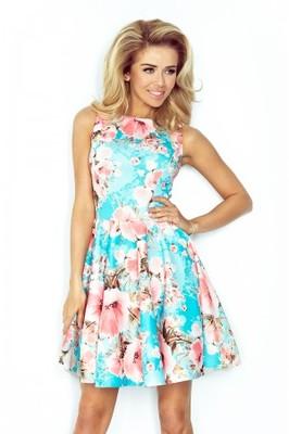 Piękna sukienka Rozkloszowana w kwiaty 42 XL__24h