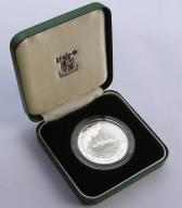 Pitcairn Isl. 1900r. - 1$ - PŁONĄCY ŻAGLOWIEC-(Ag)