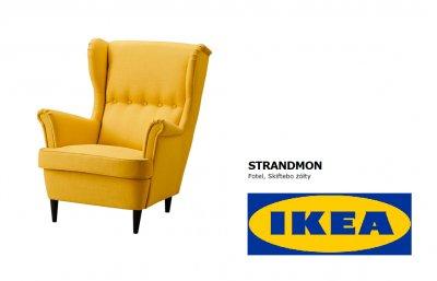 Ikea Fotel Strandmon Skifebo żółty Nowy 6040272922