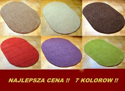 Dywan Shaggy 7 Kolorów 150x200cm Dywany Owalne 5740693042