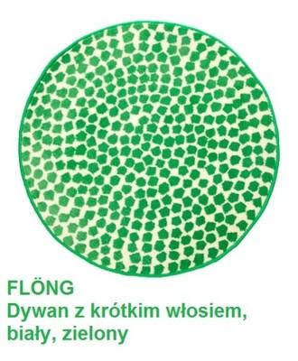 Ikea Flong Dywan Dywanik Okrągły 80 Cm Zielony 6514605899