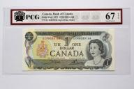 KANADA 1 Dollar 1973 PCG Superb Gem UNC 67 EPQ