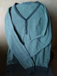 Sweter męski L NEXT szaro-zielony paski must have!