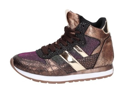 Złote wysokie buty sportowe McArthur CP03 6749151383