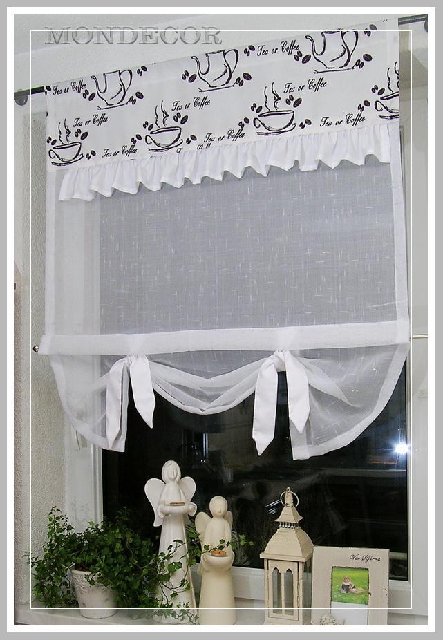 szycie na wymiar modna firanka do kuchni 7042798825