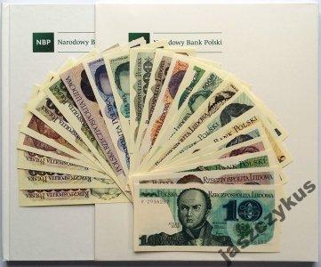 PRL POLSKIE BANKNOTY OBIEGOWE 23 KOPIE + ALBUM NBP
