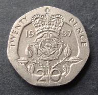 Wlk. Brytania - 20 Pensów 1997