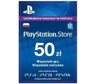 PlayStation Store PSN 50zł wysyłka 3min tanio!!!