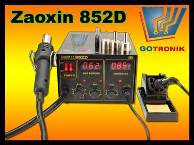 Stacja lutownicza Zhaoxin 852D 2w1 HOT-AIR
