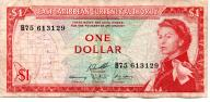 Karaiby Wsch. 1 Dollar 1965 P-13f.2