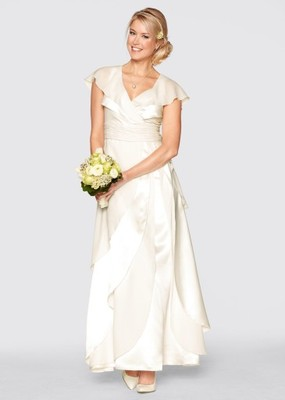 0d36f4da49 Zwiewna suknia ślubna ecru rozm. 40. - 6694407060 - oficjalne ...