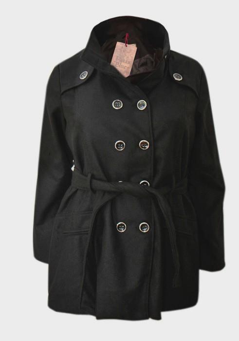 23bcb3f71ffb18 Wełniany damski płaszcz klasyk zima PLUS SIZE XXXL - 7014572513 ...