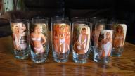 Szklanki rozbierane z dziewczynami termo czułe PRL