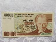 TURCJA 100000 LIRÓW 1970 r.St. ( 2+ )