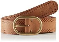 Wrangler Women's Perforated Belt, Brown (Cognac),