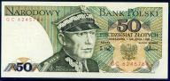 50 ZŁOTYCH 1988 ROK SERIA GC STAN I/I-