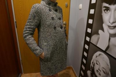 890a9fd0e2 Wełniany płaszcz ZARA Toruń - 4833048814 - oficjalne archiwum allegro