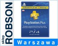 PLAYSTION PLUS 365 DNI PS4 PSN ROK 12 AUTOMAT 24/7